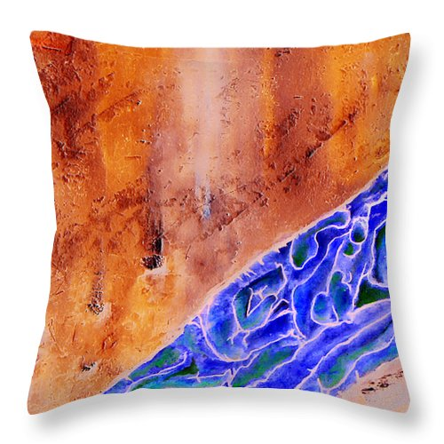 Life Flow River Water People Birth Throw Pillow featuring the mixed media River Of Life by Veronica Jackson