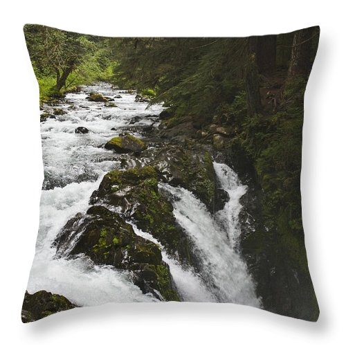 River Throw Pillow featuring the photograph River Running by Chad Davis