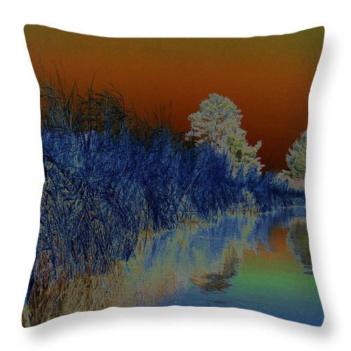 River Throw Pillow featuring the photograph River View Serenity by Sue Duda