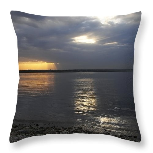 Art Throw Pillow featuring the photograph River Volga1 by Svetlana Sewell