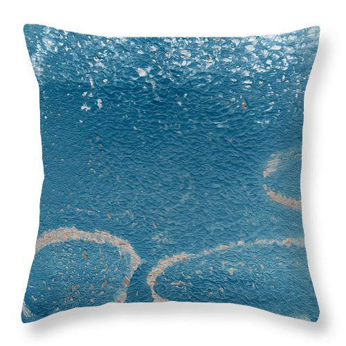 Abstract Throw Pillow featuring the painting River Walk by Linda Woods