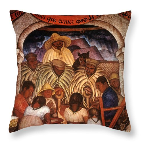 20th Century Throw Pillow featuring the photograph Rivera: Rain by Granger