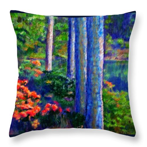 River Throw Pillow featuring the painting Rivers Edge by Michael Durst