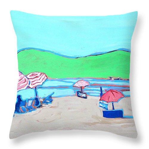 Seashore Throw Pillow featuring the painting Riviera by Kurt Hausmann