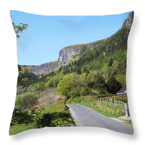 Irish Throw Pillow featuring the photograph Road To Benbulben County Leitrim Ireland by Teresa Mucha