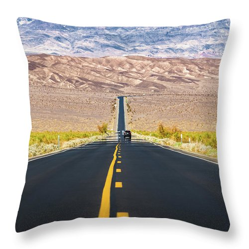 Road To Death Valley Throw Pillow For Sale By Jr Photography