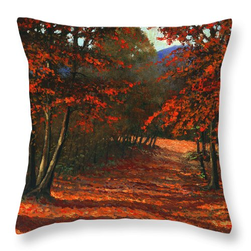 Landscape Throw Pillow featuring the painting Road To The Clearing by Frank Wilson