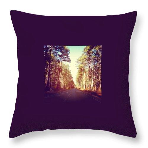 Roadtrip Throw Pillow featuring the photograph Roadtrip by Joan McCool