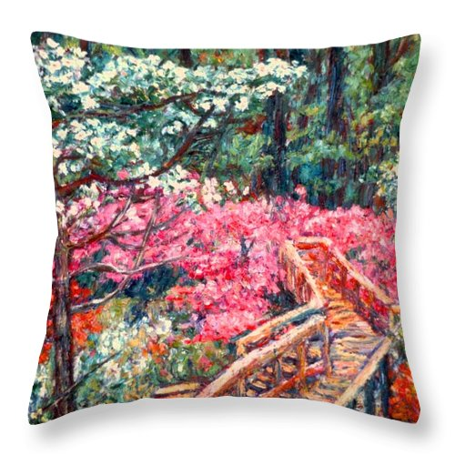 Garden Throw Pillow featuring the painting Roanoke Beauty by Kendall Kessler