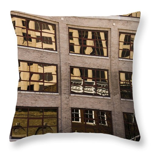Roanoke Throw Pillow featuring the photograph Roanoke Reflection by Teresa Mucha
