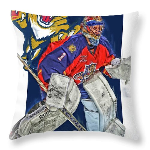 Roberto Luongo Florida Panthers Oil Art Throw Pillow For Sale By Joe