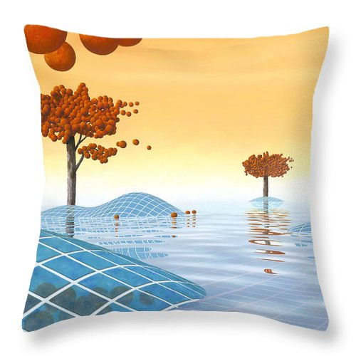 Architecture Throw Pillow featuring the painting Robinia Natatalis by Patricia Van Lubeck
