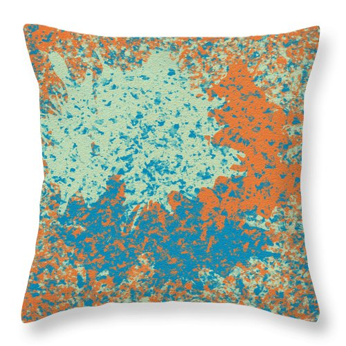 Cliff Throw Pillow featuring the painting Rocha by Diretorio do Design