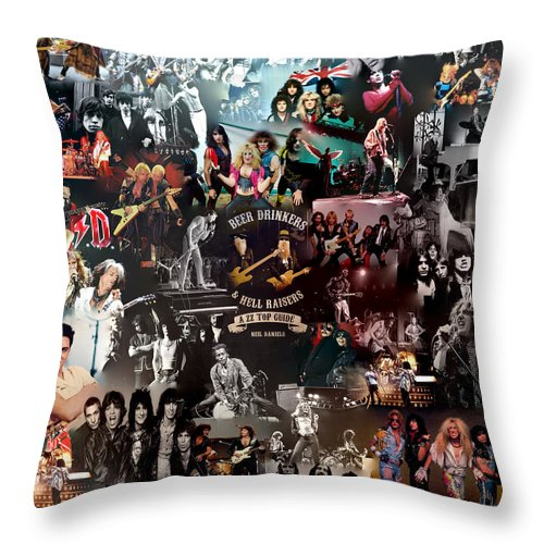 rock 80s collage throw pillow for sale by galeria trompiz