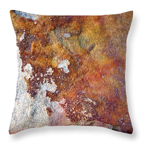 Abstract Throw Pillow featuring the photograph Rock Abstract 1 by John Lautermilch