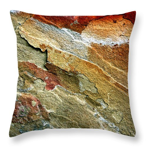 Rock Patterns Throw Pillow featuring the photograph Rock Abstract 3 by John Lautermilch