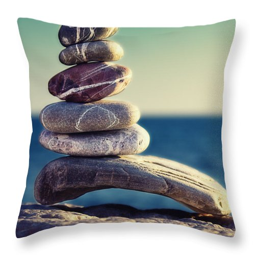 Arrangement Throw Pillow featuring the photograph Rock Energy by Stelios Kleanthous