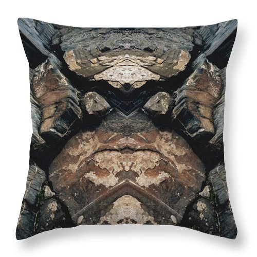Rocks Throw Pillow featuring the photograph Rock Gods Rock Matron by Nancy Griswold