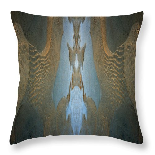 Rocks Throw Pillow featuring the photograph Rock Gods Seabird of Old Orchard by Nancy Griswold
