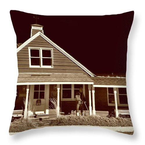Culture Throw Pillow featuring the photograph Rock Hall Waterman's Museum by Skip Willits