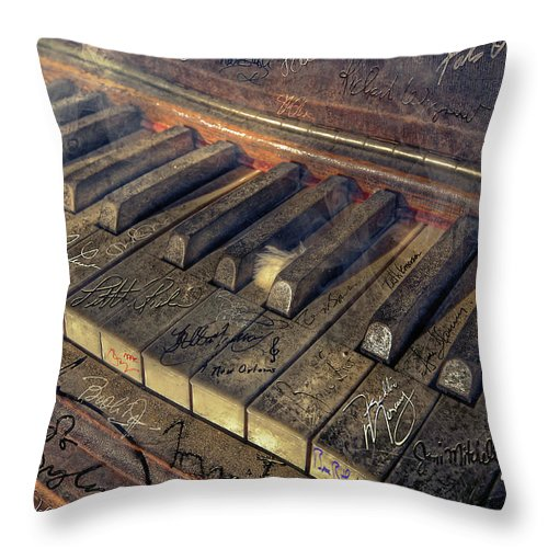 Rock Throw Pillow featuring the photograph Rock Piano Fantasy by Mal Bray