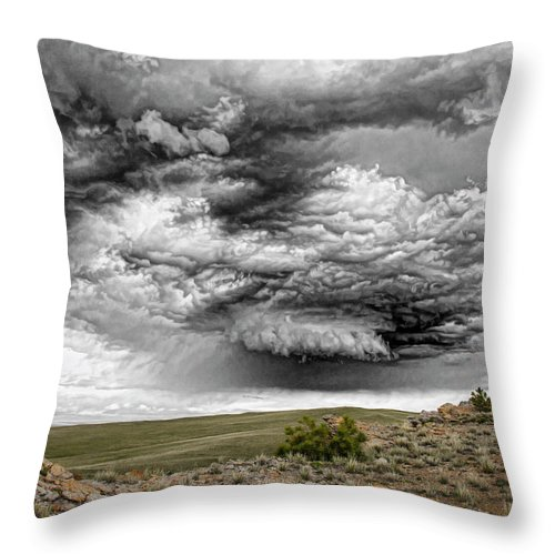 Throw Pillow featuring the photograph Rock River by Robert Kirkwood
