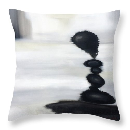 Modern Art Throw Pillow featuring the painting Rock Sculpture 2 by Jill English