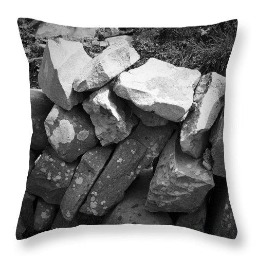 Irish Throw Pillow featuring the photograph Rock Wall Doolin Ireland by Teresa Mucha