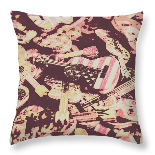 Sound Throw Pillow featuring the photograph Rock World Tour by Jorgo Photography - Wall Art Gallery