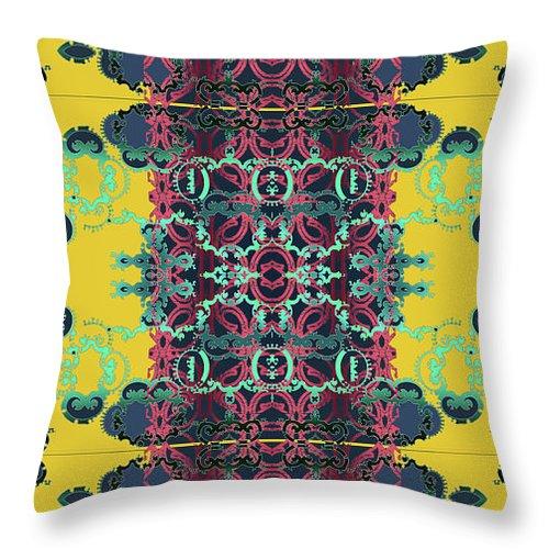 Yellow Throw Pillow featuring the digital art Rocket 1 by Ceil Diskin