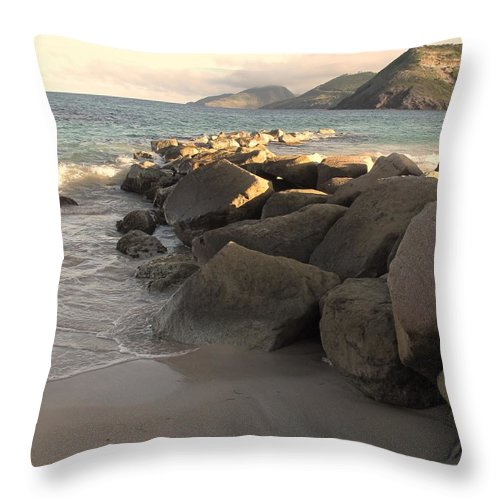 Boulders Throw Pillow featuring the photograph Rocks And Hills by Ian MacDonald