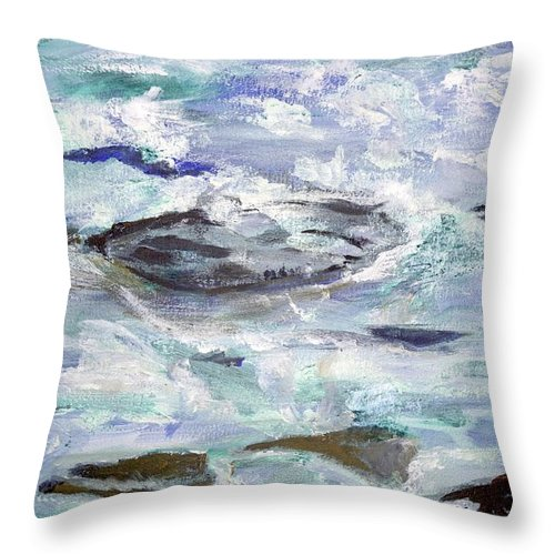 Throw Pillow featuring the painting Clew Bay Shore by Kathleen Barnes