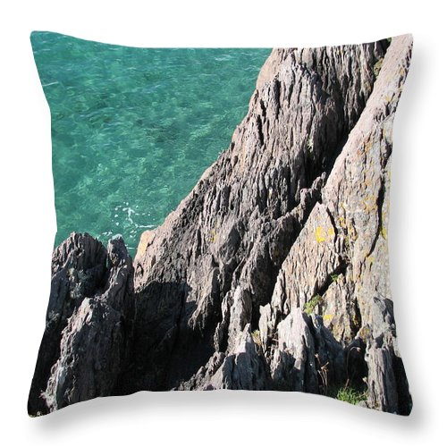 Kerry Throw Pillow featuring the photograph Rocks Of Kerry by Kelly Mezzapelle