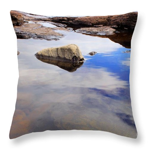 Lake Superior Throw Pillow featuring the photograph Rocks Of Lake Superior 1 by Jimmy Ostgard