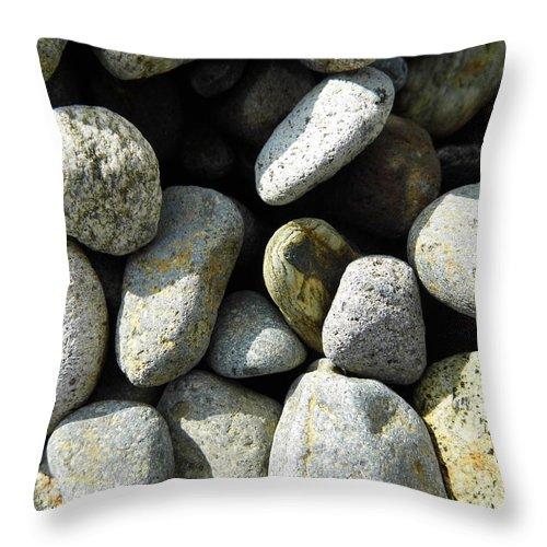 Rock Throw Pillow featuring the digital art Rocks by Palzattila