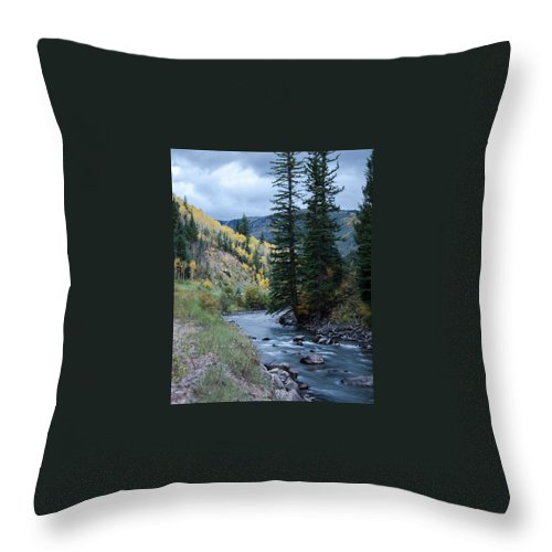 Mountain Throw Pillow featuring the photograph Rocky Crossing by Steve Marler