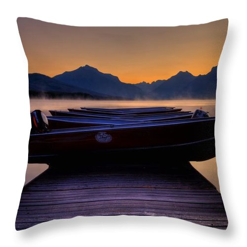 Rocky Mountains Throw Pillow featuring the photograph Rocky Mountain Magic - Seveneleven by James Anderson