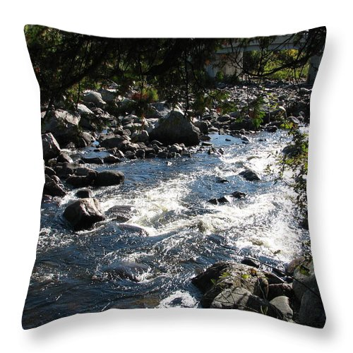 Water Throw Pillow featuring the photograph Rocky Rapids by Kelly Mezzapelle