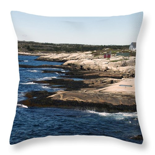 Fishing Throw Pillow featuring the photograph Rocky Shores by Kelvin Booker