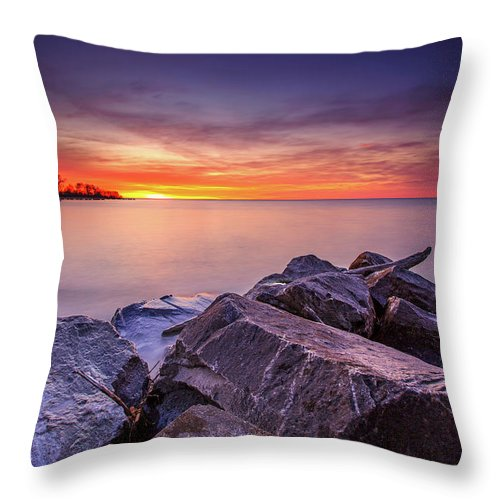 Clouds Throw Pillow featuring the photograph Rocky Sunrise by Andrew Slater