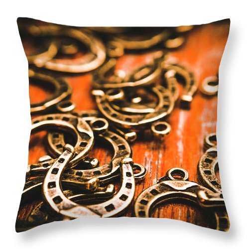 Metal Throw Pillow featuring the photograph Rodeo Abstract by Jorgo Photography - Wall Art Gallery