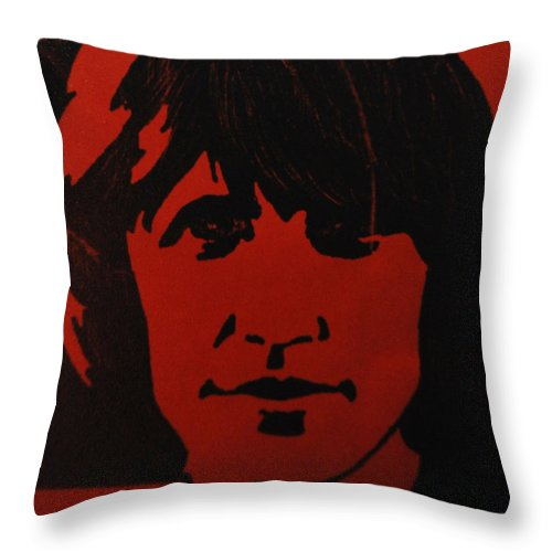 Abstract Throw Pillow featuring the photograph Roger Waters by Rob Hans