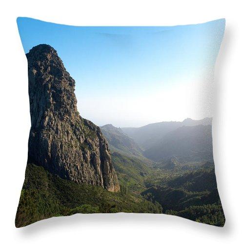 La Gomera Throw Pillow featuring the photograph Rogue De Agando 1 by Jouko Lehto