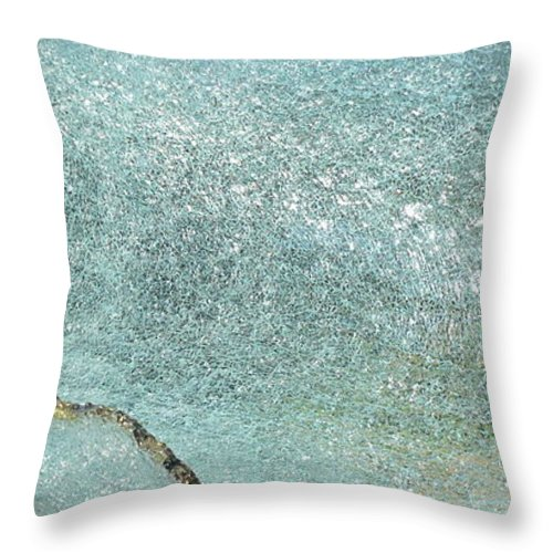 Glass Sculptures Throw Pillow featuring the sculpture Rogue Wave by Rick Silas