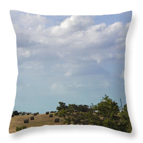 Landscape Throw Pillow featuring the photograph Roll Away by Melissa Millsap-Young