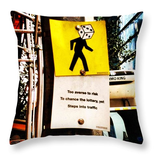 Mindfulness Throw Pillow featuring the photograph Roll Of The Dice by Nick Heap