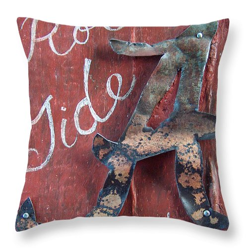 Roll Tide Throw Pillow featuring the mixed media Roll Tide by Racquel Morgan