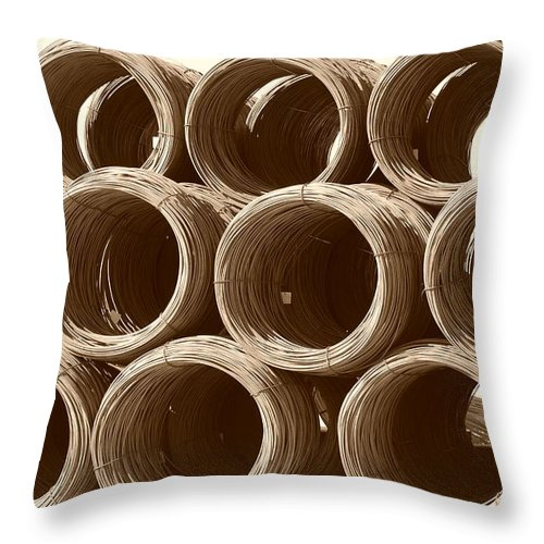 Metal Throw Pillow featuring the photograph Rolled Steele by Rob Hans