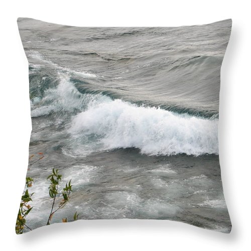 Wave Throw Pillow featuring the photograph Rolling by Kelly Mezzapelle