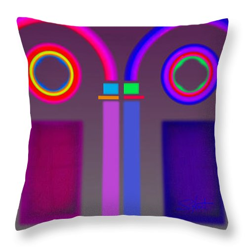 Classical Throw Pillow featuring the digital art Roman Arches by Charles Stuart